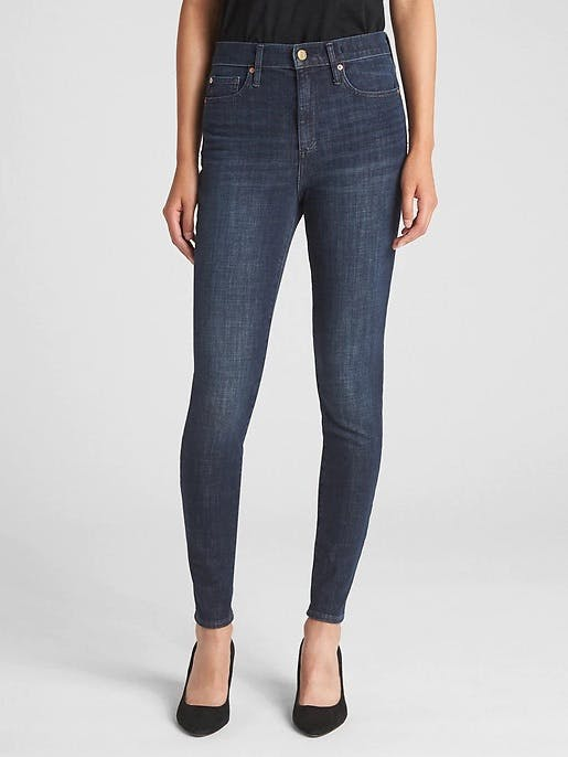 super high waisted jeans, high waist jean, gap jeans