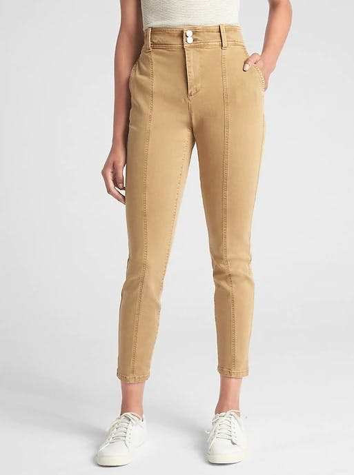 khaki high waisted jeans