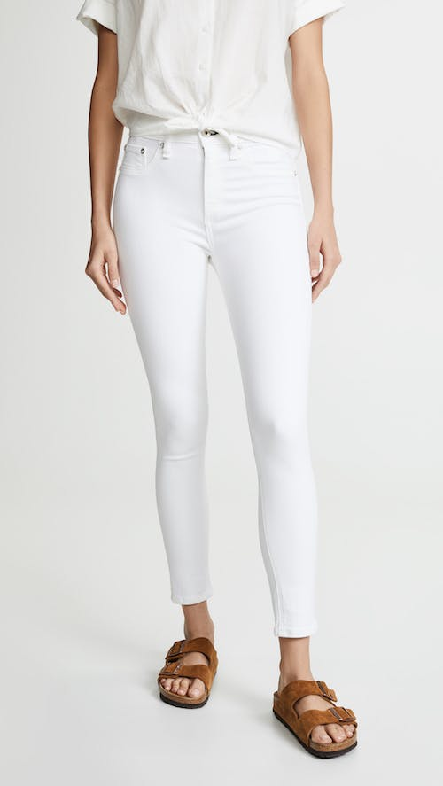 white jeans, rag and bone white jeans