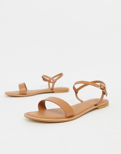 Flume leather flat sandals