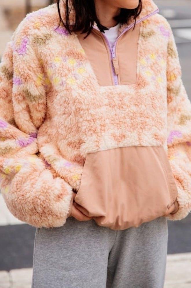 Sherpa Fleece Popover Jacket