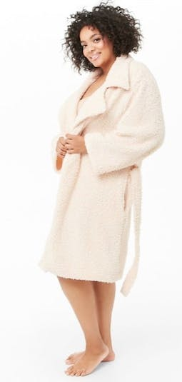 Faux Shearling Longline Jacket