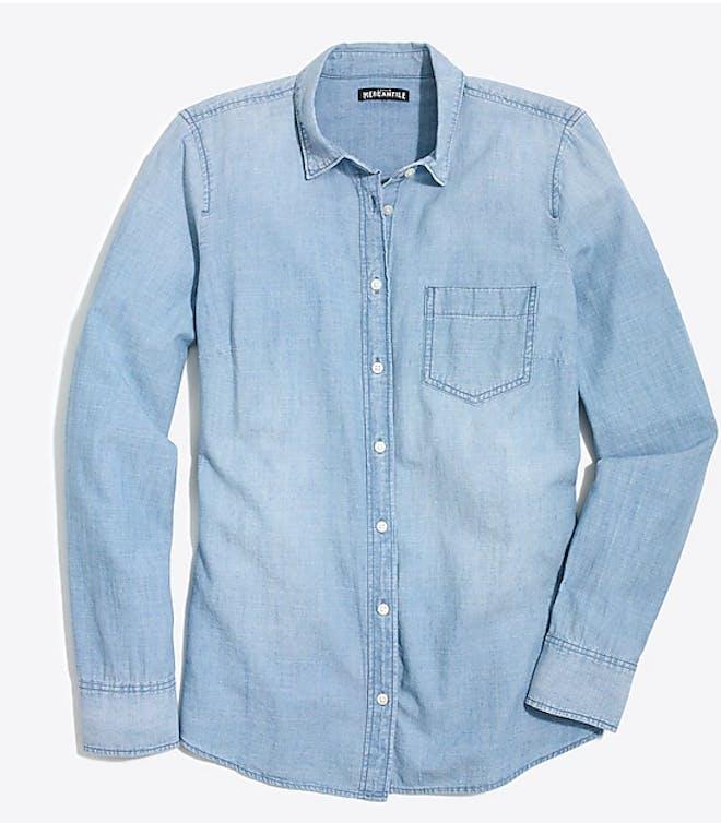 light wash denim shirt
