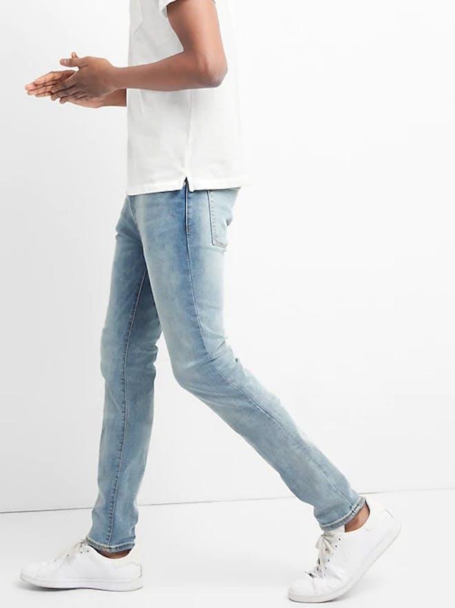 Mens denim light wash jeans