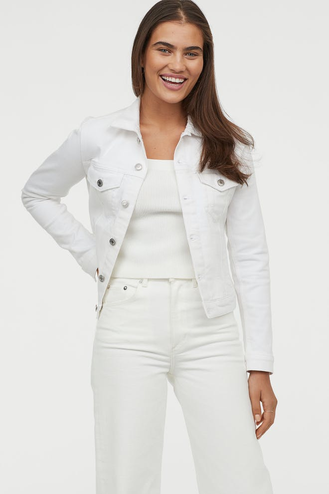 Ladies white denim jacket