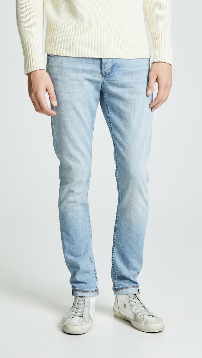 Washed out mens jeans