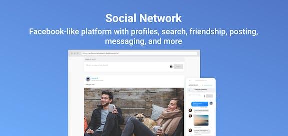 Canvas Social Network Template Bubble