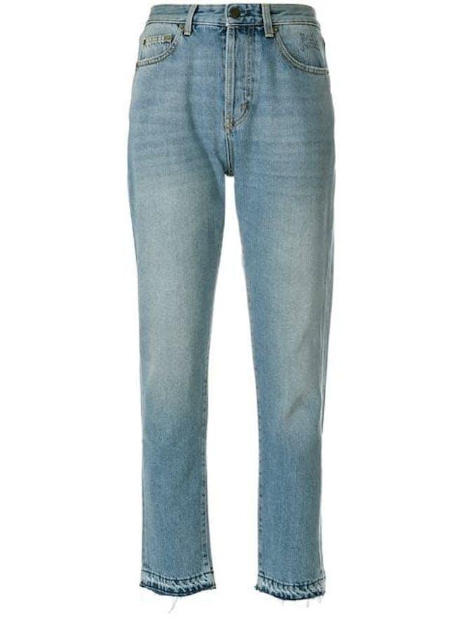 Saint Laurent ligh wash fitted jeans