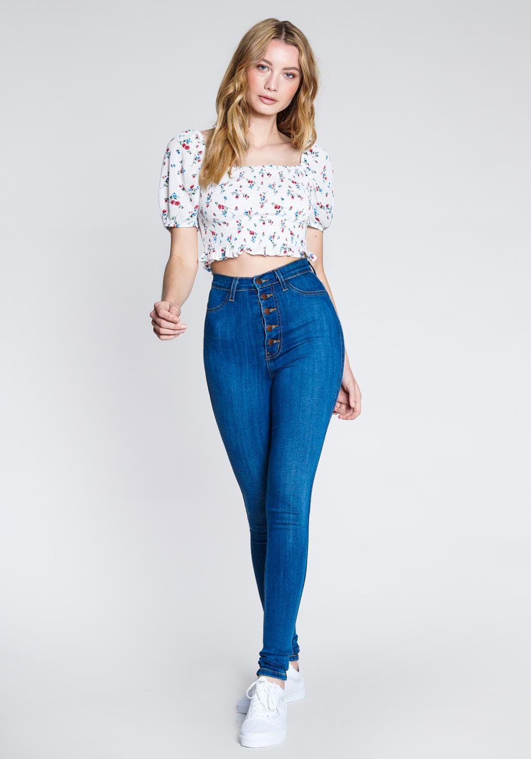 P1114 MS - Nora Button Up Jeans