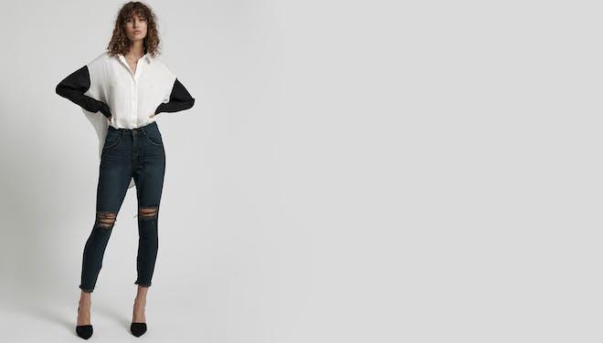 Fox Black Freebirds High Waist Skinny Jeans