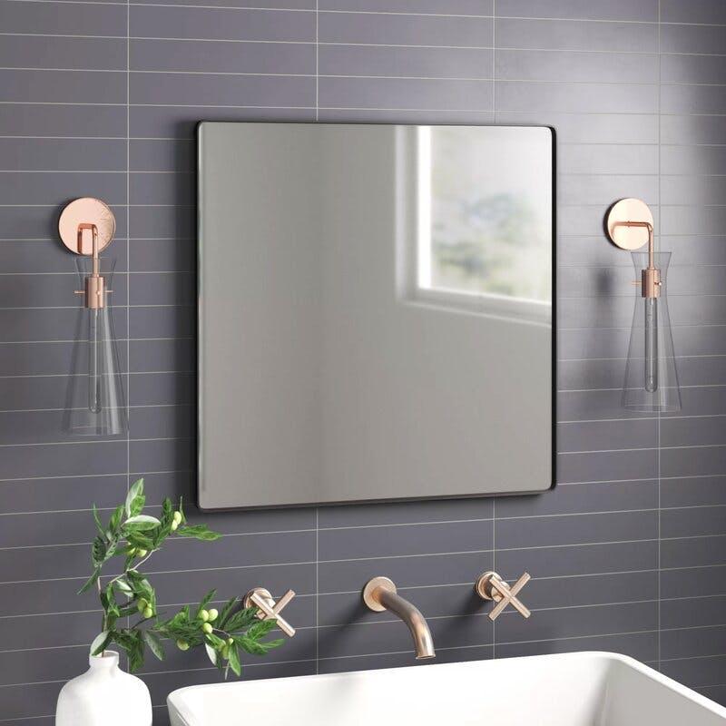Brushed Nickel Bathroom Mirror April 2021 Find The Best Bathroom Mirror