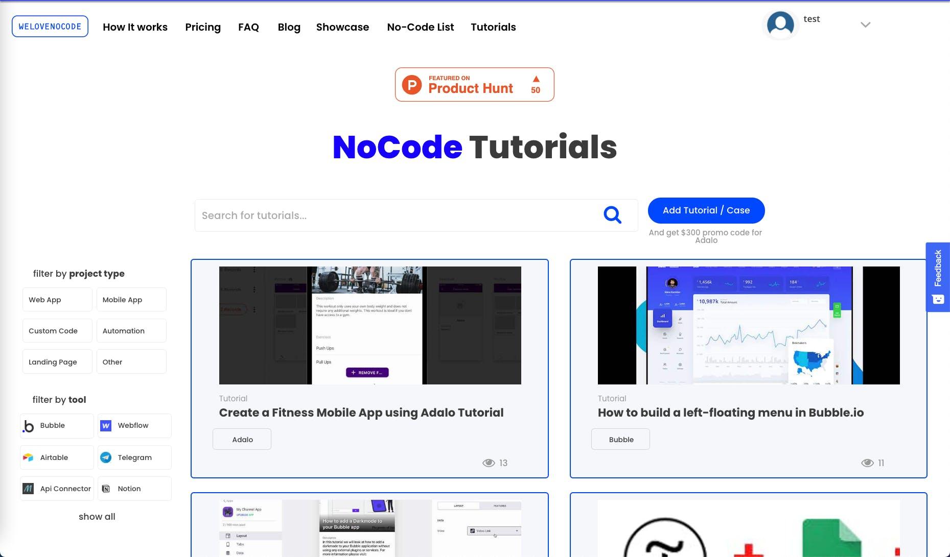 Free NoCode Tutorials