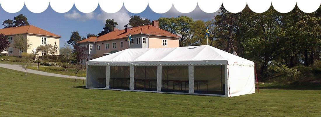 Detta partytält kan du hyra av Rent a Tent Stockholm