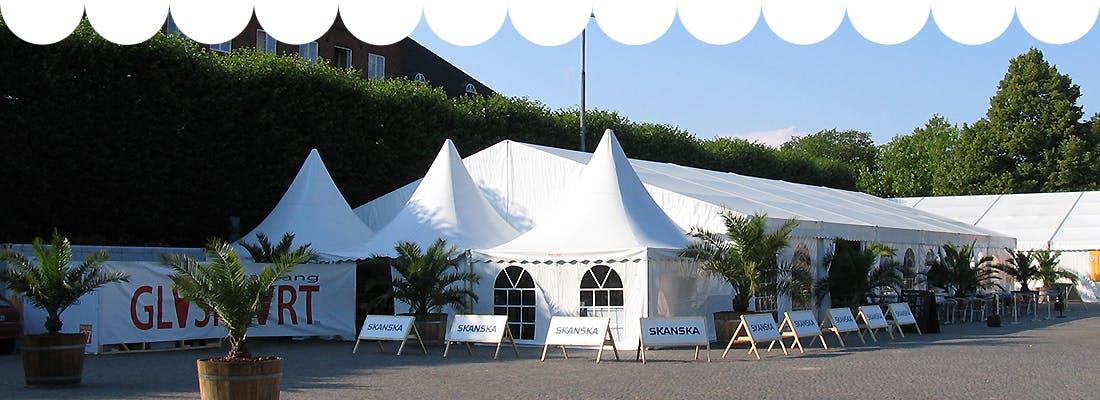 Detta partytält kan du hyra av Rent a Tent Borås