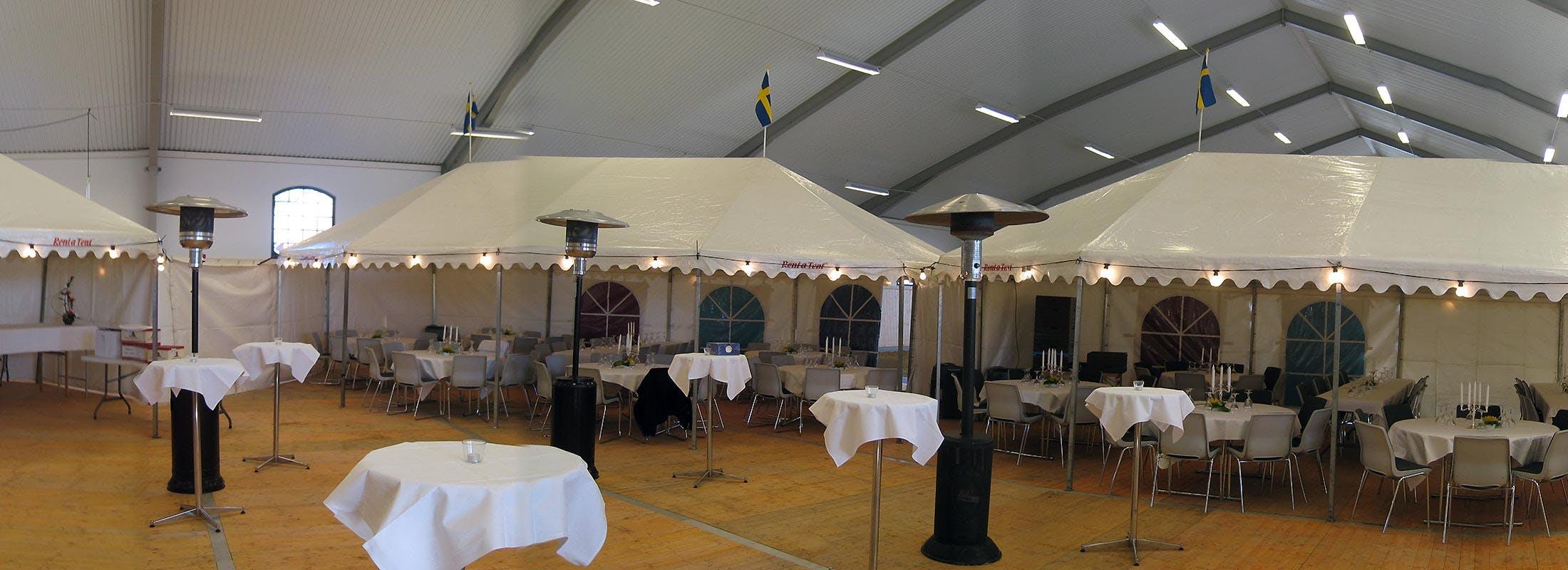 Hyra tält till Inomhuslösningar Rent a Tent Skaraborg
